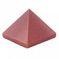 """Пирамида сувенир камень авантюрин """"Золотой песок"""", высота 3,6см, ширина 3,0см"""