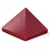 """Пирамида сувенир камень авантюрин """"Золотой песок"""", высота 3см, ширина 4см"""