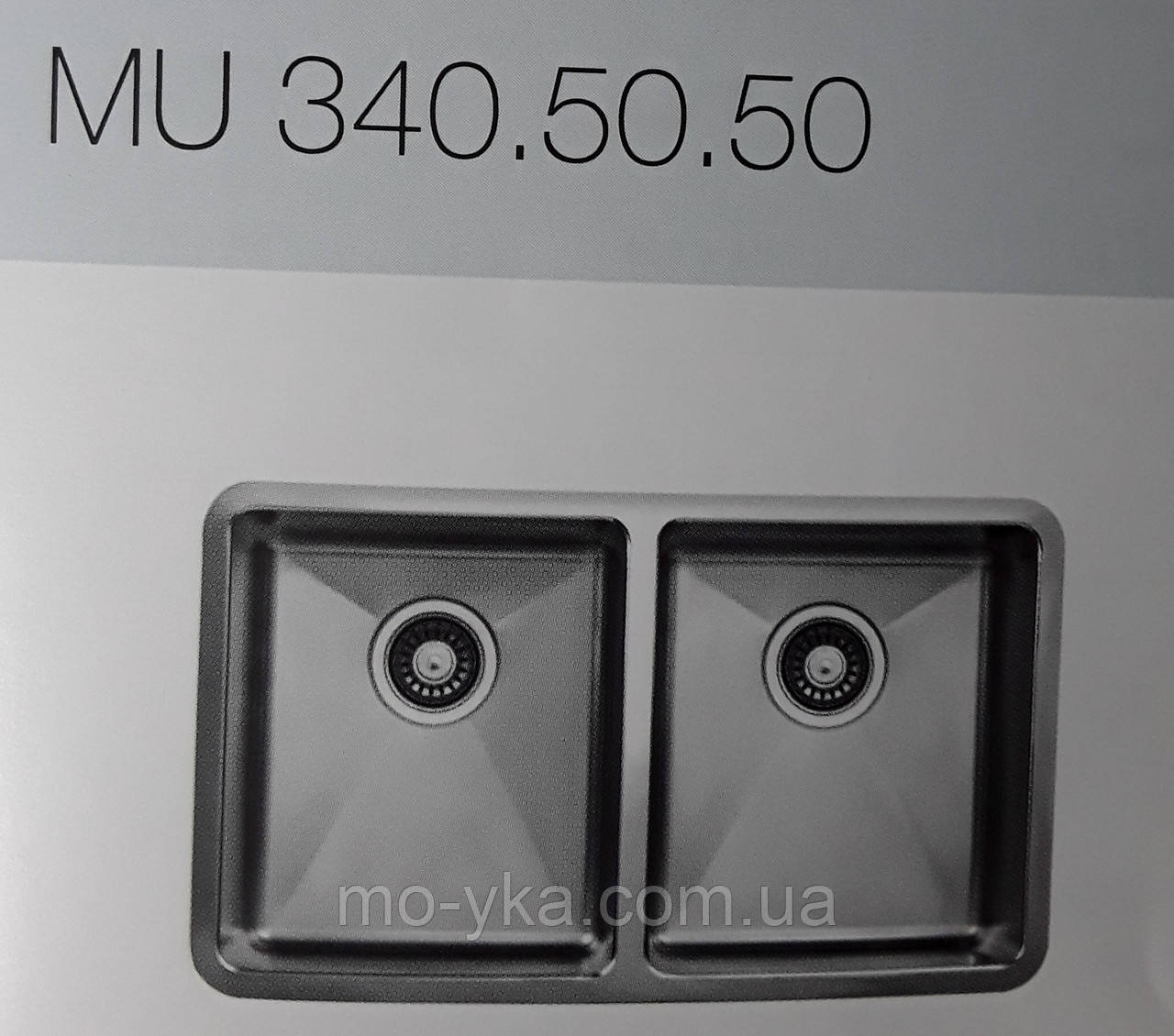 Кухонная мойка Ukinox Micro MU 340.50.50