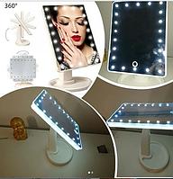 Зеркало настольное с подсветкой LED - бренд Large Led Mirror БЕЛОЕ
