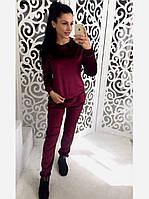 Бархатный велюровый бархат велюр женский спортивный костюм М-ка бордо бордовый марсала марсаловый