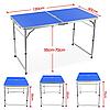 Раскладной стол для пикника с 4 стульями FT-2107 (синий), фото 3