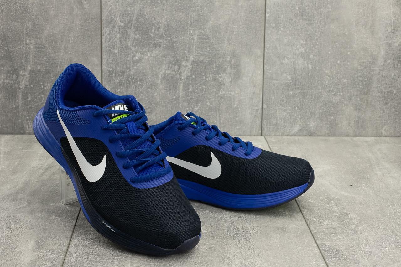 3f37cdd3 Кроссовки Nike (весна - осень - лето, мужские, текстиль, сетка, синий