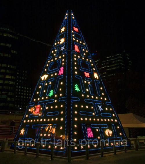 Необычная рождественская елка в стиле игры PacMan
