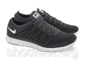 Мужские кроссовки Nike Free 5.0 Flyknit NSW Black/White