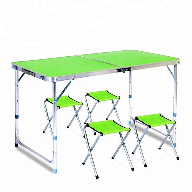 Раскладной стол для пикника с 4 стульями FT-2107 (зеленый)