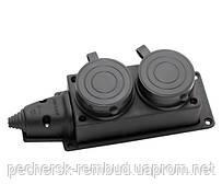 Колодка двойная ERKA 6002 с заглушками 2х16 (каучук)