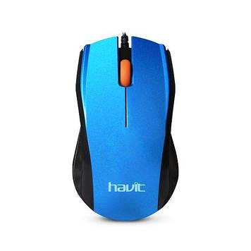 Мышь проводная Havit HV-MS689  blue
