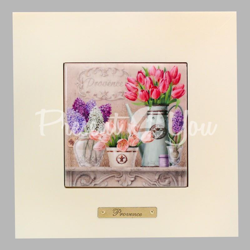 Панно настенное 'Прованс . Тюльпаны ' , 10х10, 18х18 см.