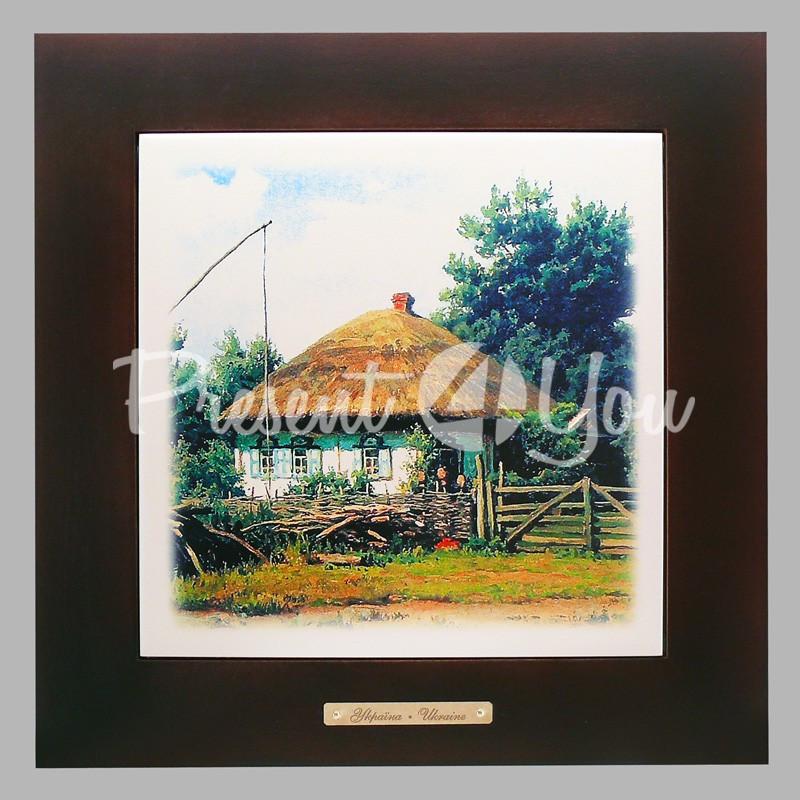 Панно настенное 'Родительский дом', 20х20, 28х28 см.