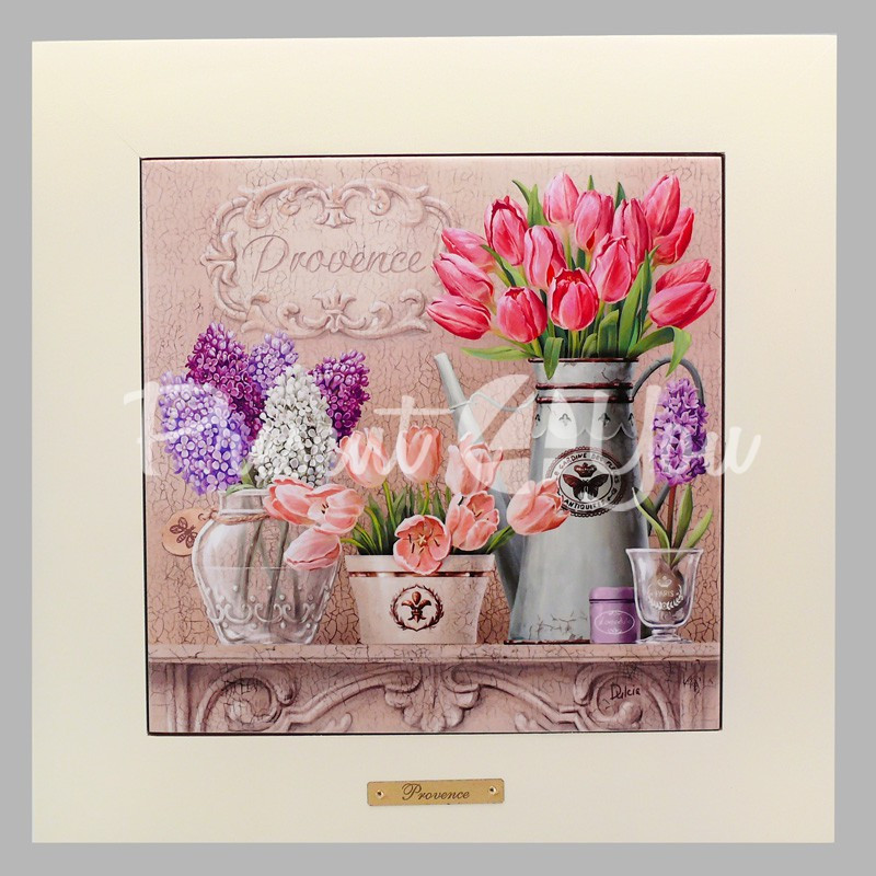 Панно настенное 'Прованс . Тюльпаны ' , 20х20, 28х28 см.