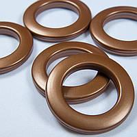 Люверс коричневый, внутренний диаметр 3,5см ,  шт