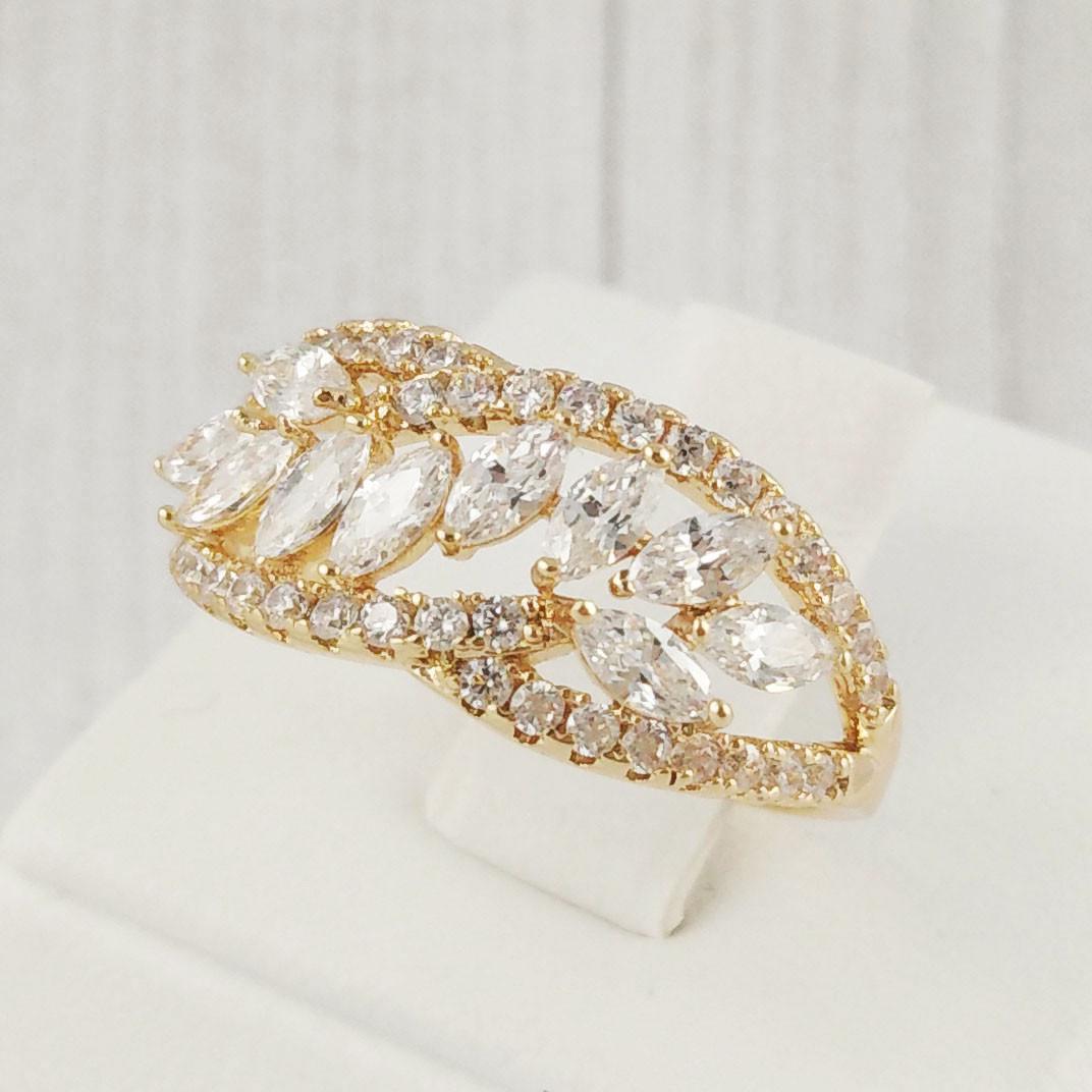 "Кольцо Xuping Jewelry размер 17 ""Колосок"" медицинское золото, позолота 18К. А/В 2115"