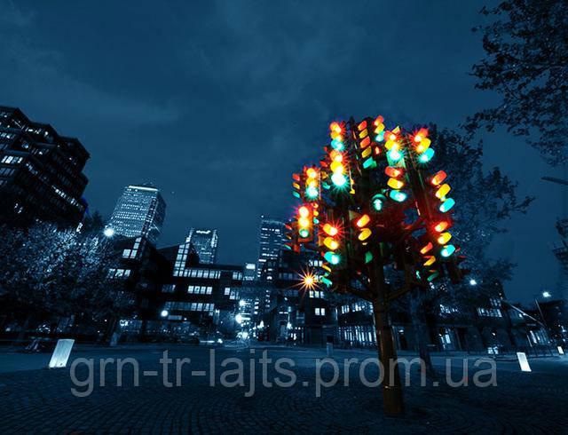 Новогодняя елка из светофоров