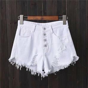 Женские джинсовые шорты с декоративными порезами 40jus222