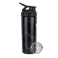 Спортивная бутылка-шейкер BlenderBottle SportMixer Signature Sleek BLACK SHATTERED SLATE 820мл (ORIGINAL), фото 1
