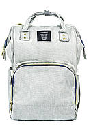 Рюкзак-сумка для мам органайзер L-16369 серый