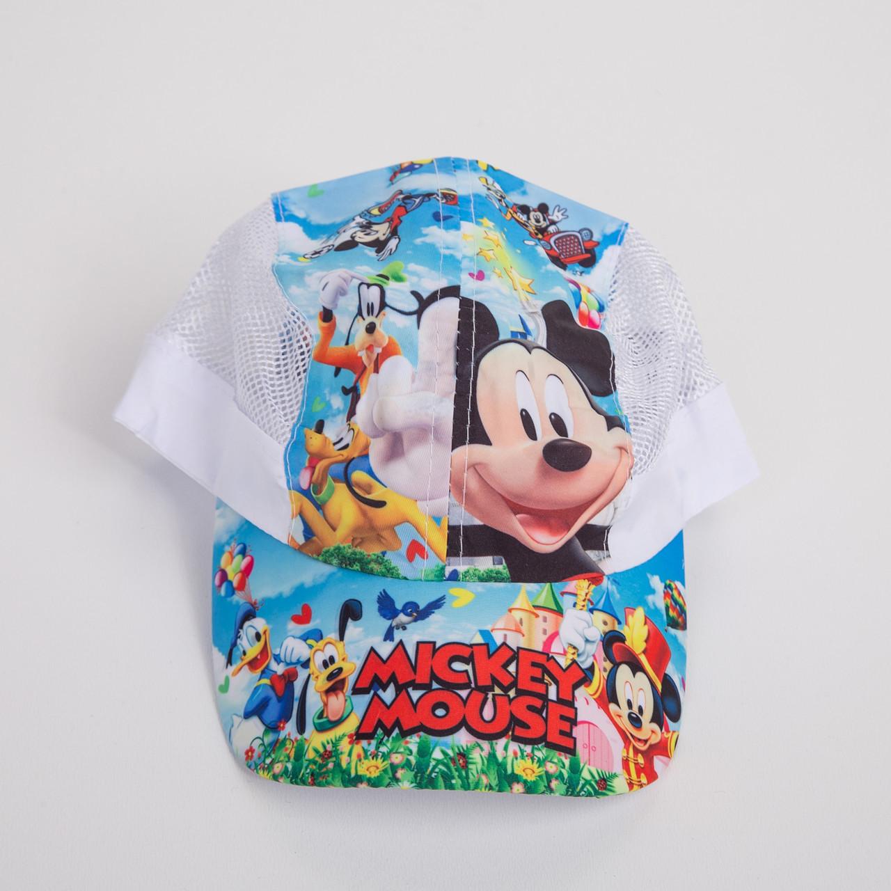 Легкая кепка для мальчика на лето - Сетка-микки (к20)