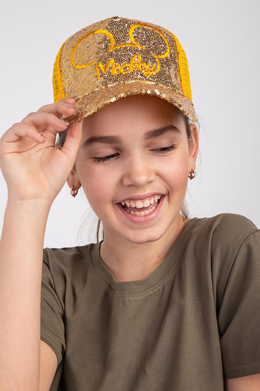 Яркая летняя кепка для девочек - Mickey (к26)