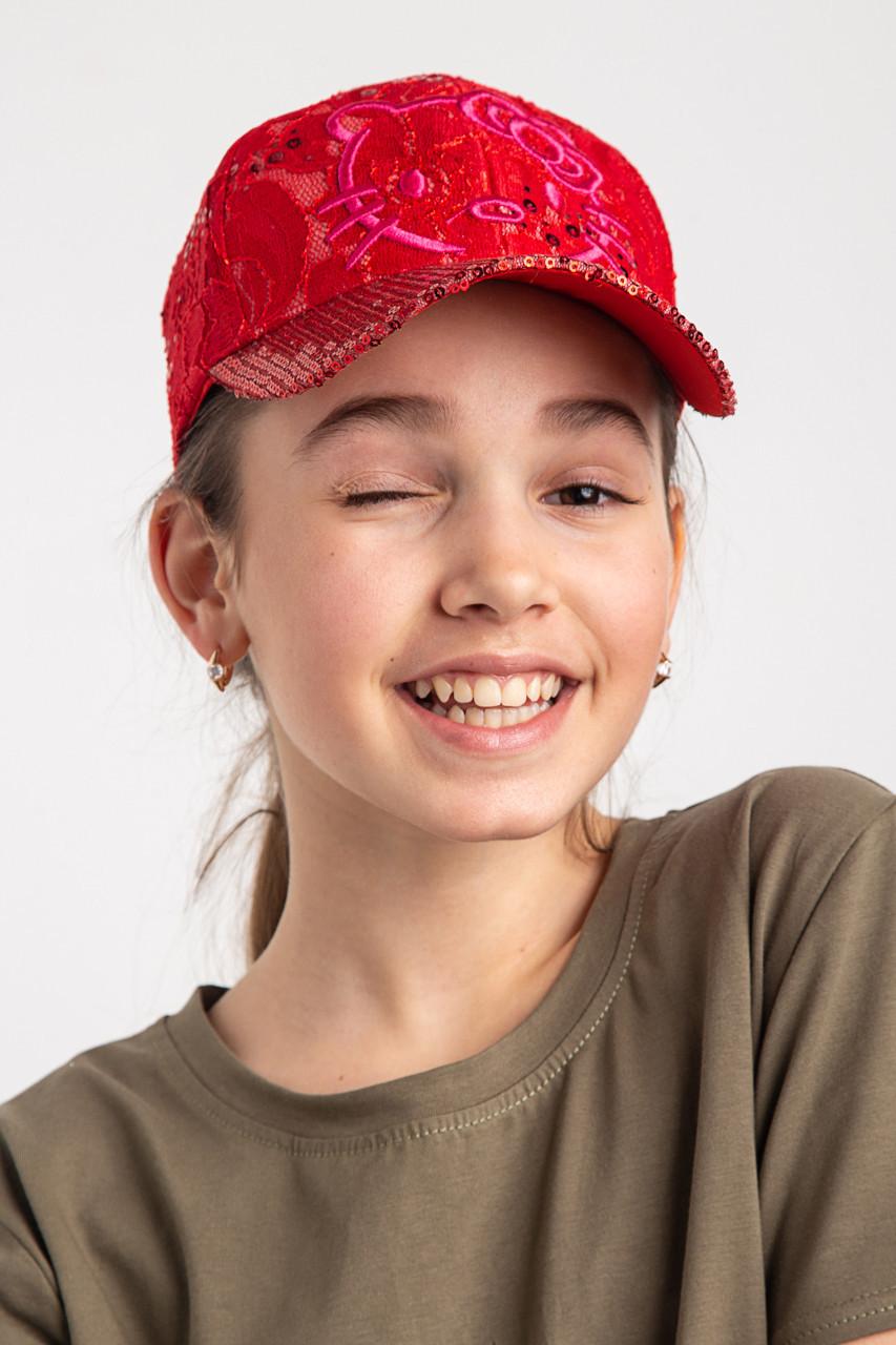 Легкая кепка для девочек на лето - Kitty (к27)