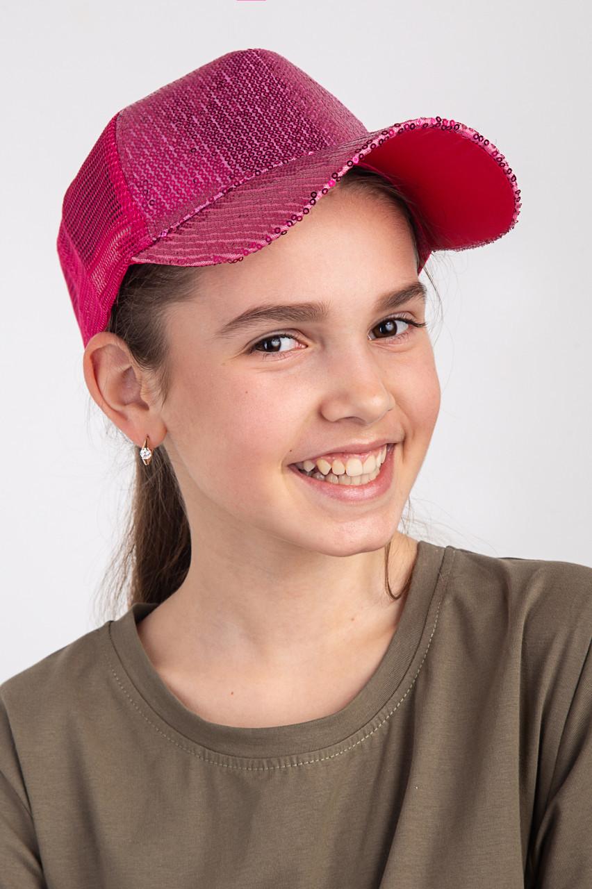 Летняя кепка для девочки - Пайетки (к30)
