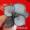 Эксклюзивное серебряное кольцо Цветок - Коктейльное серебряное кольцо, фото 6