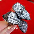 Эксклюзивное серебряное кольцо Цветок - Коктейльное серебряное кольцо, фото 8