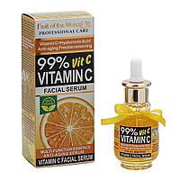 Отбеливающая антивозрастная сыворотка Wokali Vitamin C + Hyaluronic Аsid, 40 мл