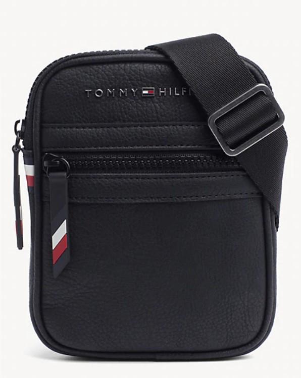 Мужская кожаная сумка TOMMY HILFIGER ESSENTIAL MINI CROSSOVER BAG. Оригинал!