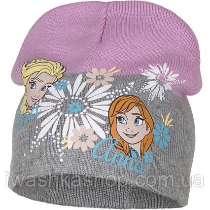 Демисезонная шапка с Анной и Эльзой, Холодное сердце для девочки р. 52, Disney / Frozen