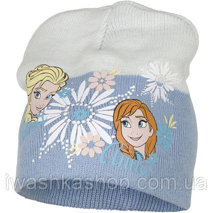 Демисезонная шапка с Анной и Эльзой, Холодное сердце для девочки р. 54, Disney / Frozen