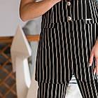 Нарядный женский костюм в полоску - модель 2019  - Код км-501, фото 2
