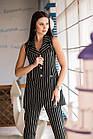 Нарядный женский костюм в полоску - модель 2019  - Код км-501, фото 3
