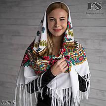 Українська народна шерстяна хустина Квіти України, фото 2