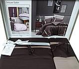 Комплект постельного белья сатин delux first choice евро размер Dream style bitter, фото 3