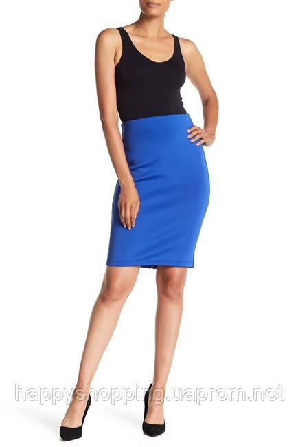Женская синяя юбка карандаш на молнии Catherine Malandrino