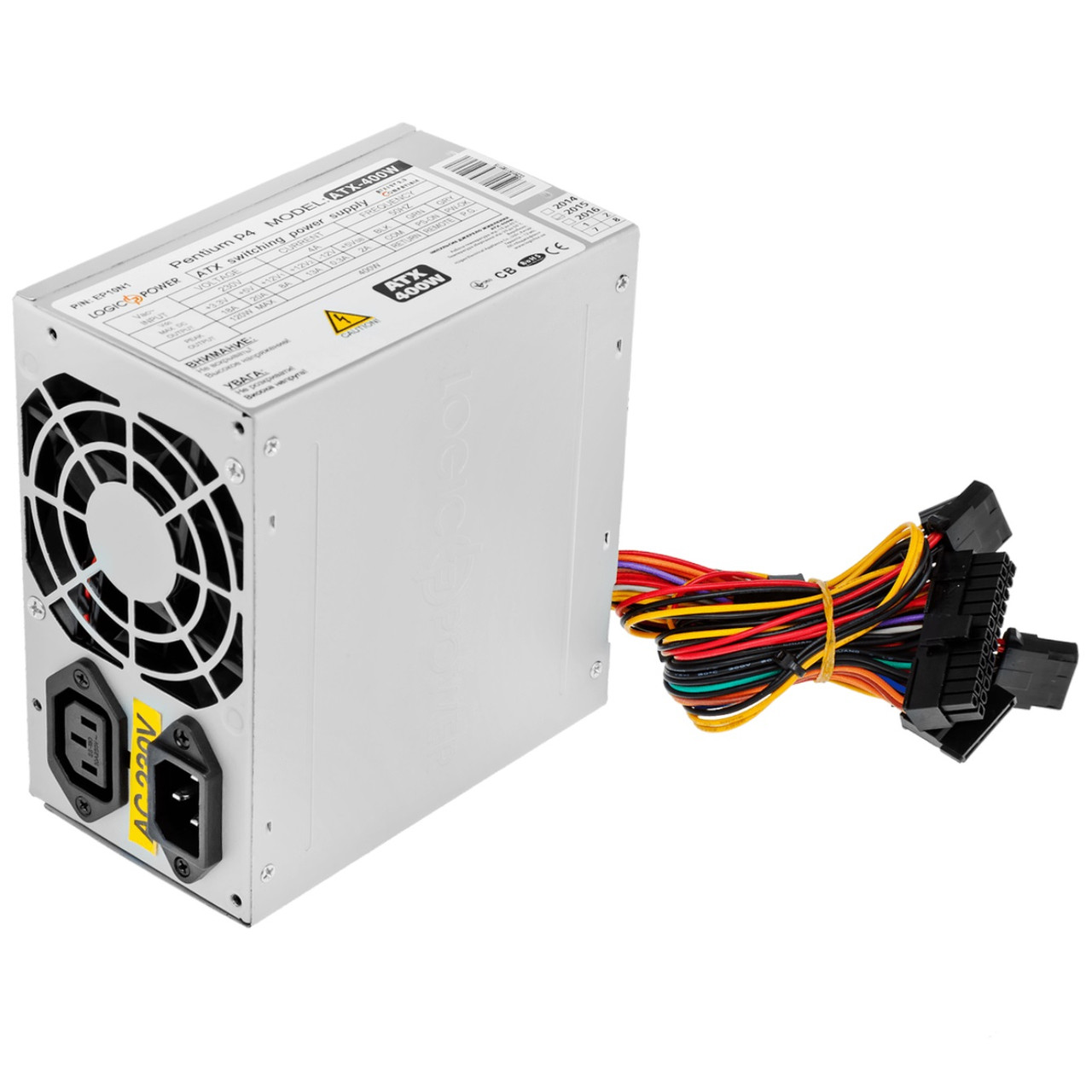 Блок питания Logicpower ATX-400W; 8см, 2 SATA, OEM, без кабеля питания