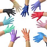 Перчатки нитриловые цветные