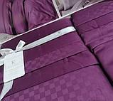 Комплект постельного белья сатин delux first choice евро размер square style fucia, фото 2