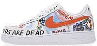 Женские кроссовки Nike Air Force 1 Low Pauly x Vlone Pop White Hайк Аир Форс белые