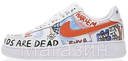 Женские кроссовки Nike Air Force 1 Low Pauly x Vlone Pop White Hайк Аир Форс белые, фото 2