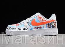 Женские кроссовки Nike Air Force 1 Low Pauly x Vlone Pop White Hайк Аир Форс белые, фото 3