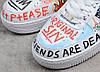 Женские кроссовки Nike Air Force 1 Low Pauly x Vlone Pop White Hайк Аир Форс белые, фото 6