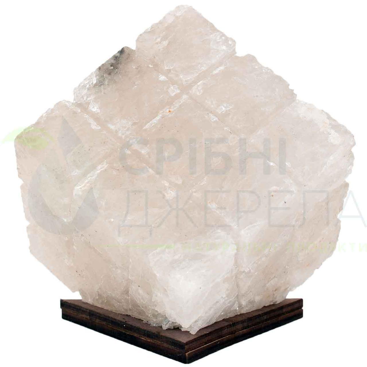 Соляной USB-ночник Куб 1 кг