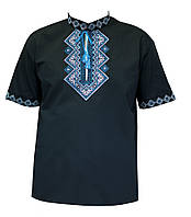 Мужская вышитая футболка «Омикрон»