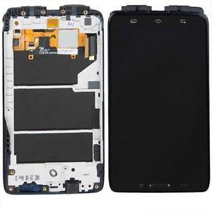 Дисплей для Motorola XT1080 Droid Ultra с тачскрином и рамкой черный Оригинал