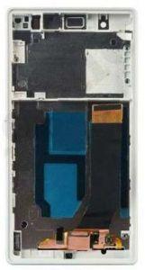 Диcплей c тачcкрином Sony C6602 L36h Xperia Z, C6603 L36i, C6606 L36a белый в рамке (HQ)