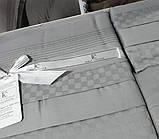 Комплект постельного белья сатин delux first choice евро размер square style gri, фото 2