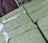 Комплект постельного белья сатин delux first choice евро размер square style yesil, фото 2