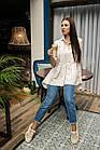 Легкая свободная женская блузка 2019 - (код бл-560), фото 3